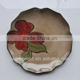 Home use and decor Flower Pattern Hand Painted Ceramic Plates