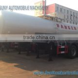 22 m3 98% Sulfuric Acid Tanker Semi Trailer Tri Axle Carbon Steel Chemical Liquid Tank Trailer