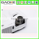 GAOKE short throw over head projector 1080P XGA3000 Ansi lumens with 3D function HDMI interface and filter black and white color