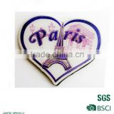 Romantic heart shape fridge magnet eco-friendly fridge magnet/full color printed coated paper magnet/High performance