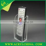 clear acrylic remote control holder organizer with jointing, crystal plexiglass remote control rack with 65*40*140mm