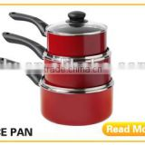 16 cm Aluminum Red Non-stick Ceramic Saucepan with Bakelite Handle Milk Pot Kitchenwares with Lid