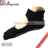 Half toe pliate springs yoga socks
