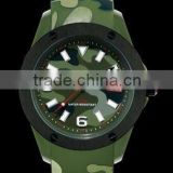 fashion Camouflage style silicone army watch custom silicone Camouflage pattern amy watch men sports army watch