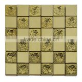2016 fashion factory good price building construction material gold stainless steel mosaic