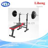 Fold olympic weight adjustable barbell and dumbbell weight lifting bench