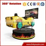 Guangzhou amusement play car racing games luxury seats 4d 360 degree car racing simulator