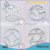 alloy 20/22mm Window Plate for floating charm memory locket pendant