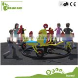 outdoor stand alone playset merry go cycle