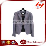 latest custom business formal uniform Plain polyester viscos stretch slimming fit lady suit top