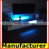 wholesale Modern LED wooden TV stand and TV cabinet with glass