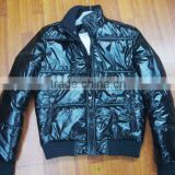 2012 mens shiny black coats and jackets for winter