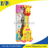 Cartoon giraffe guitar toy with light and music