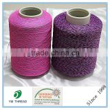 Dyed 100% Polyester Spandex Covered Yarn for Knitting Shoe Upper