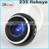 Innovative new products!Universal clip 235 degree super fisheye camera lens for mobile phone,fish eye lens