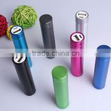 Hot sale promotional cylinder tube power bank fast mini mobile charger portable power bank 1200mah to 2800mah