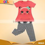 Chinese supplier top quality competitive price baby girls new fashion carnival clothing set