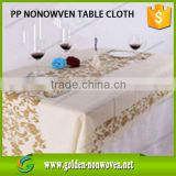 Factory Wholesale Non Woven Table Cloth/Cheap disposable nonwoven dining table cloth/Waterproof Nonwoven Table Cover/Table Cloth