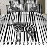 100% cotton reactive print animal horse new design 3d bedding sets