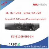 2016 New Hot selling Top 10 CCTV DVR, Hikvision hd tvi dvr,h 264 digital video recorder DS-8104HGHI-SH