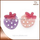 Kids Toys Hair Decoration Strawberry Shape DIY Plastic Hair Accessories For Girls 2pcs/bag