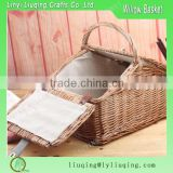 Liuqing Eco friendly rattan picnic storage basket Cheap promotional in bulk rattan and bamboo basket for food for kitchen                                                                         Quality Choice
