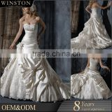 New arrival product wholesale Beautiful Fashion dress silk satin bodycon wedding dress