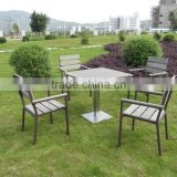 import plastic furniture includes four chairs and table for garden use