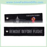 Aircraft Crew Embroidered Tag Embroidery Keychain
