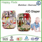 Wholesale Bamboo Newborn Aio Cloth Diaper Happyflute