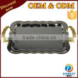 drink holder tray stainless steel food tray bed breakfast tray T254