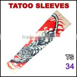 Favorites Compare tattoos 92% nylon and 8% spandex multi colors customized logo fake tattoo sleeves TS 34