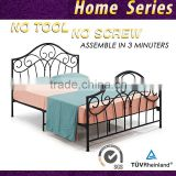 Modern Double black Platform Iron Bed Frame queen