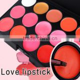 Customize Private Label Lipstick matte New Vivid Color Lip Palette 15 color beauty cream