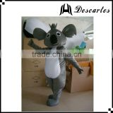 Lovely grey bear walking costume, used koala mascot costume for sale