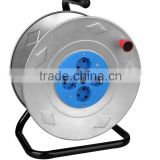 Euro Cable Reel steel Iron Extension cord reel with VDE cable H05VV-F 3G1.5 25/50M 16A 250V VDE plug ROHS