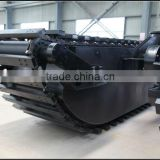 Amphibious excavator chain, Chain of floating pontoon