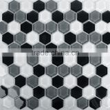 Crystal glass mosaic wall tile hexagon mosaic tile                                                                         Quality Choice