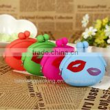 Button Silicone Cosmetic Pouch/Custom Silicone Key Pouch
