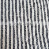 yarn dyed stripe linen viscose blended fabric