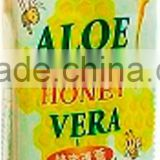 natural Aloe Vera honey juice Drink beverage PET OEM 500ml with pulp