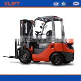 2.5 ton hydraulic diesel forklift with 3m full free mast with Isuzu engine work in container