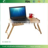 BH004/Light Folding Laptop Versatile Bamboo Serving Table Bed Tray with Long Leg