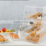 Acrylic Food Display Case for Bakery, (4) Trays, Knock Down Design(FC-B-146)