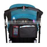 The most convenient Stroller Organizer Bag Extra Storage Bag, Cup Holder, Uiversal Fit,Removable shoulder stape