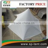 2014 Newly High peak 20 person China 10 star shade tents with sidewall in white for sale