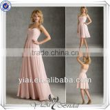 QQ316 Custom made long chiffon bridesmaid dress made in China