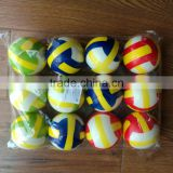 High Quality Hot Sell Mini Toys PU Ball With Volleyball printing Play Ball Colorful Ball Toys For Kids Children