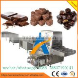 Hot selling chocolate candy enrobing machine with cooling tunnel