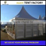 10 x 10 m white gazebo party tent canopy with side walls